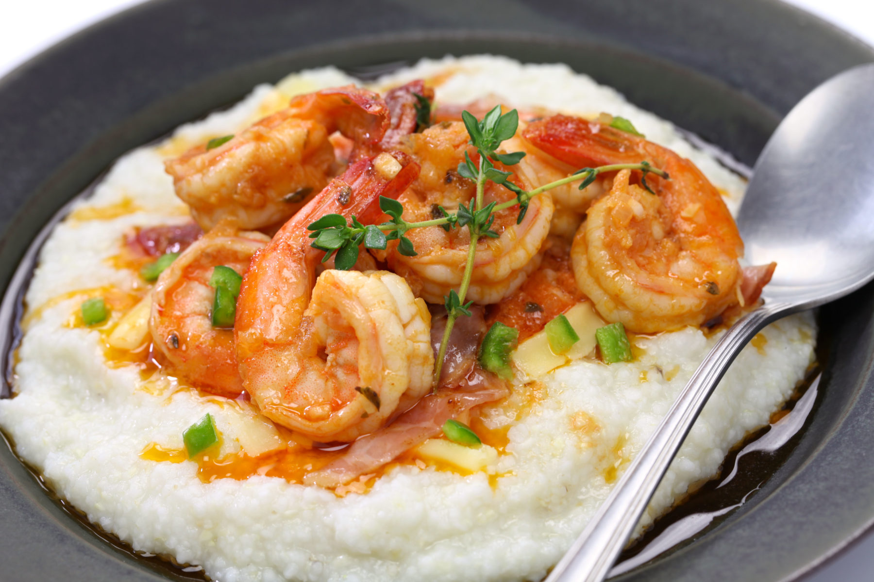 Hilton Head seafood - shrimp and grits