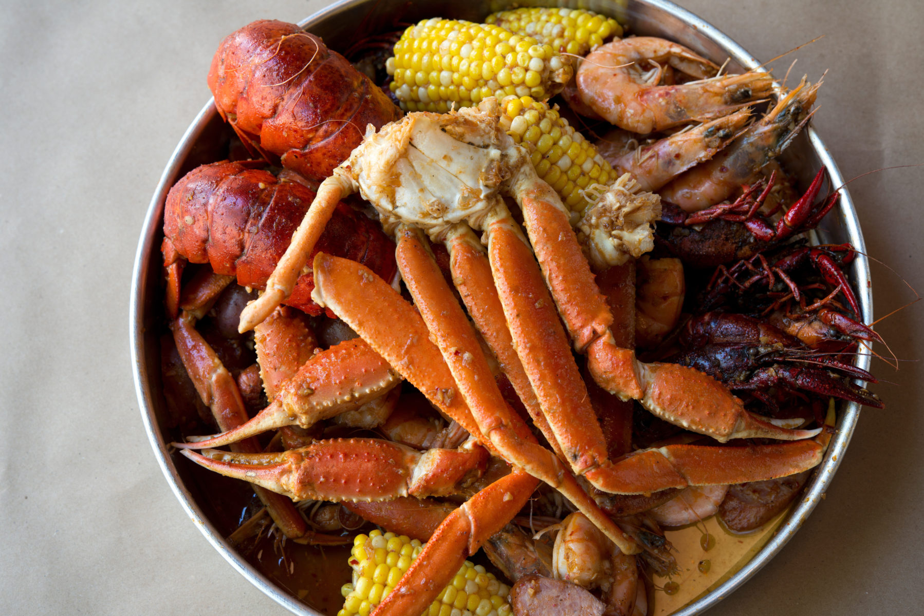Hilton Head seafood - low country boil