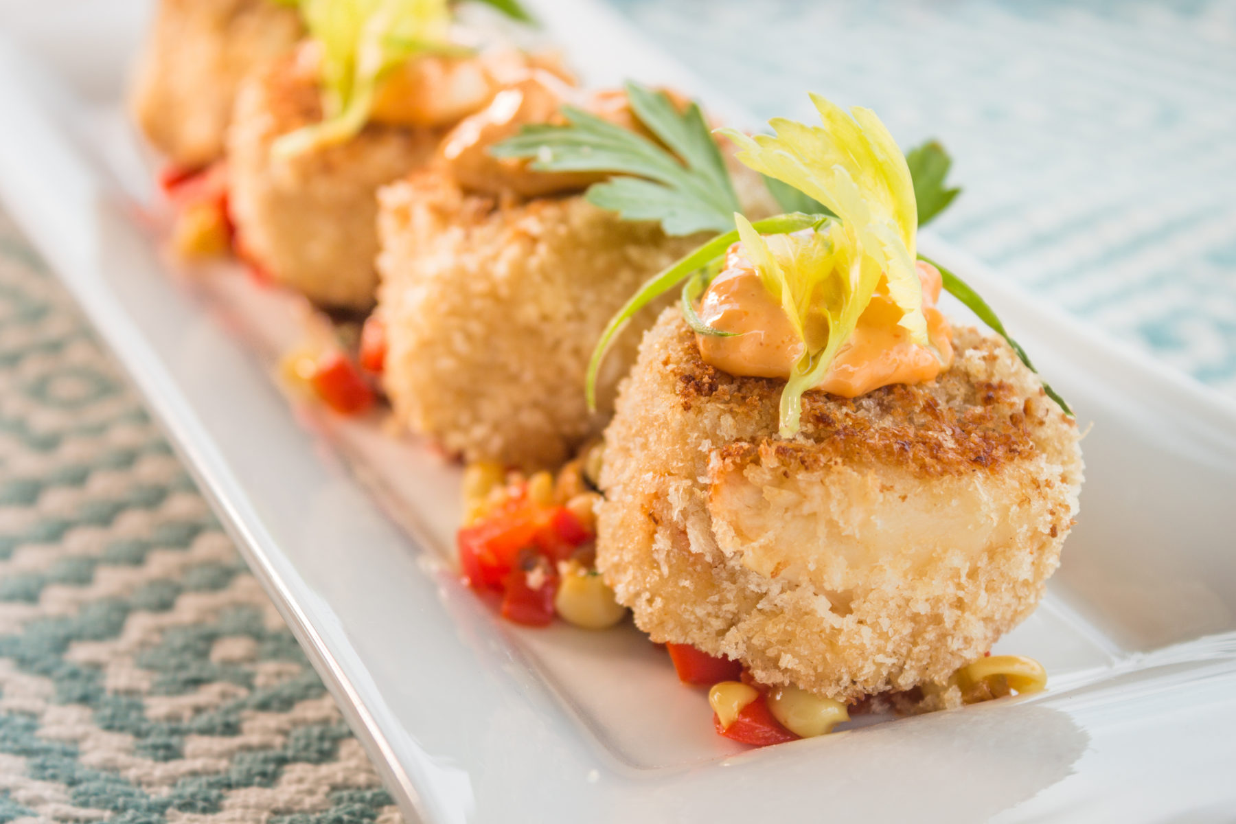 Fresh crab cakes in Hawai'i