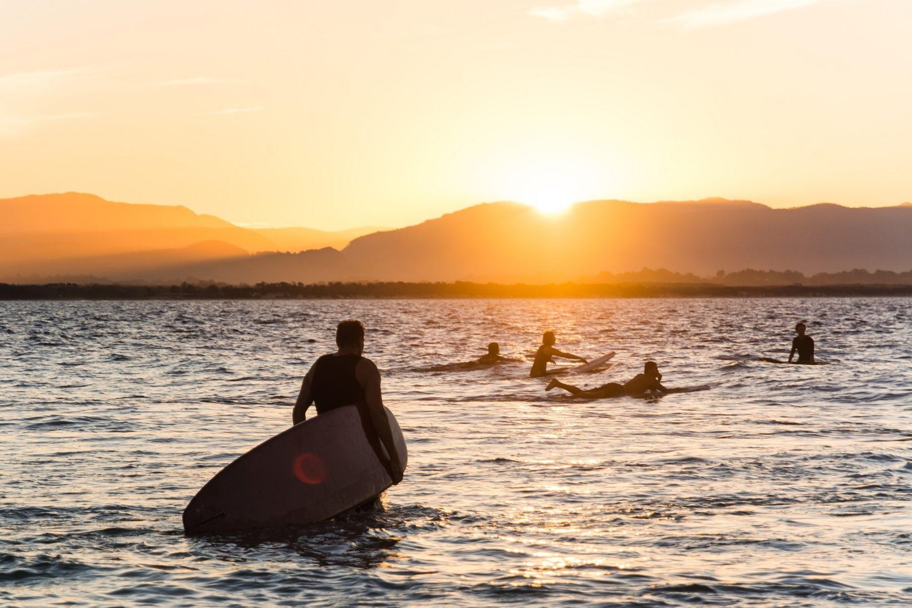 Surfing Byron Bay, Australia