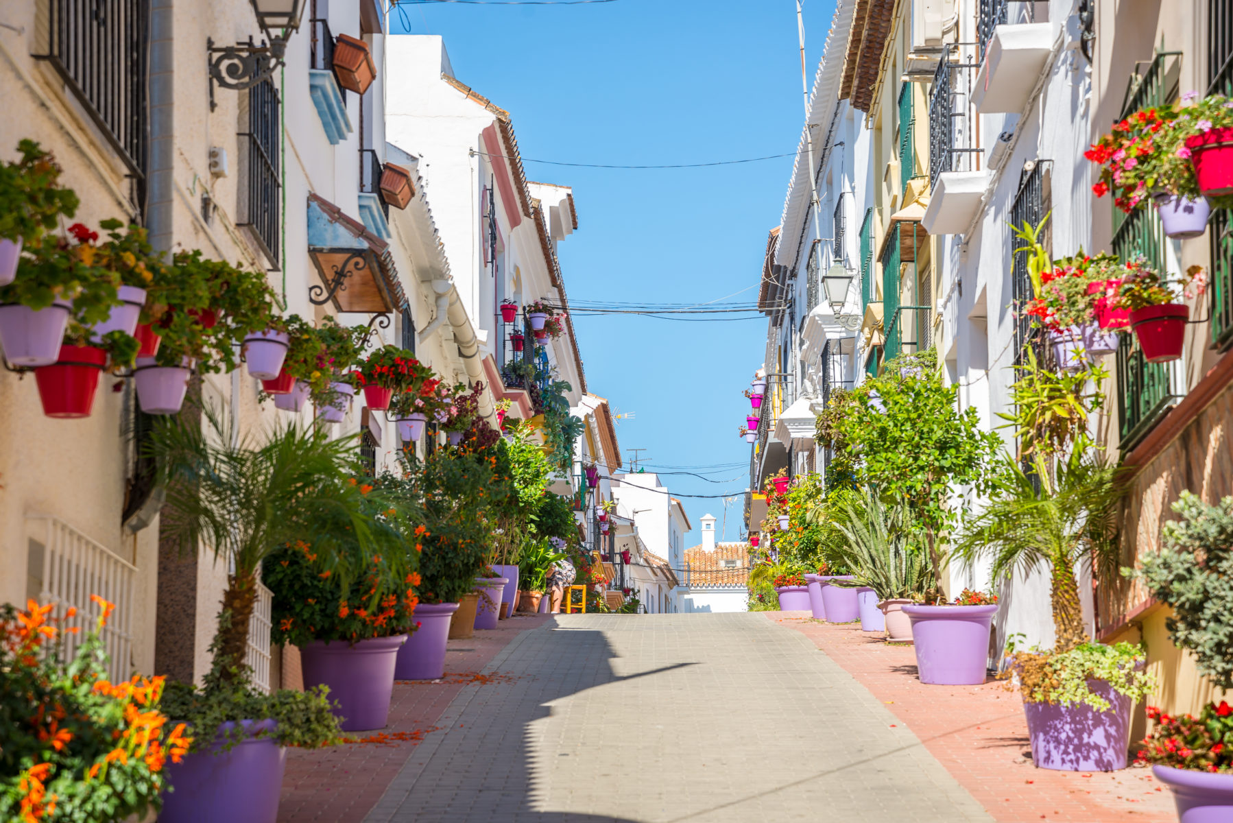 Scenic alleyway in Estepona, Spain