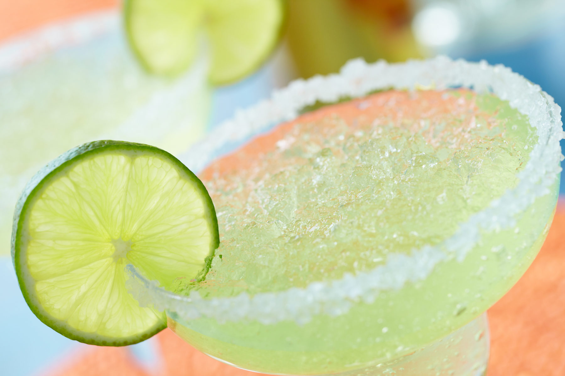 Frozen margarita with salted rim