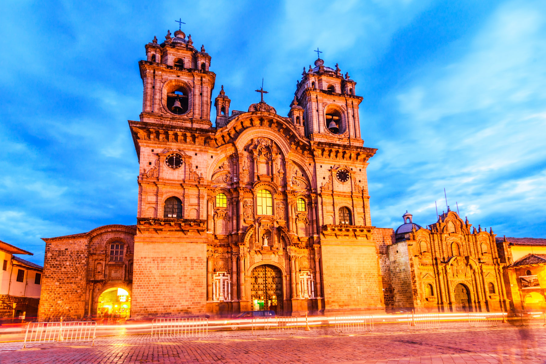 The ornate Cusco Cathedral in Peru