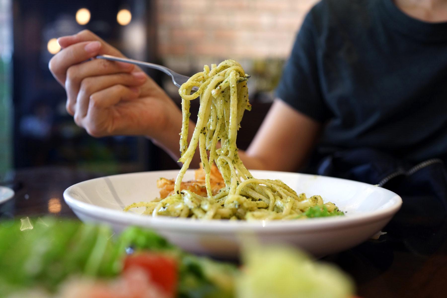 Fresh pasta dinner