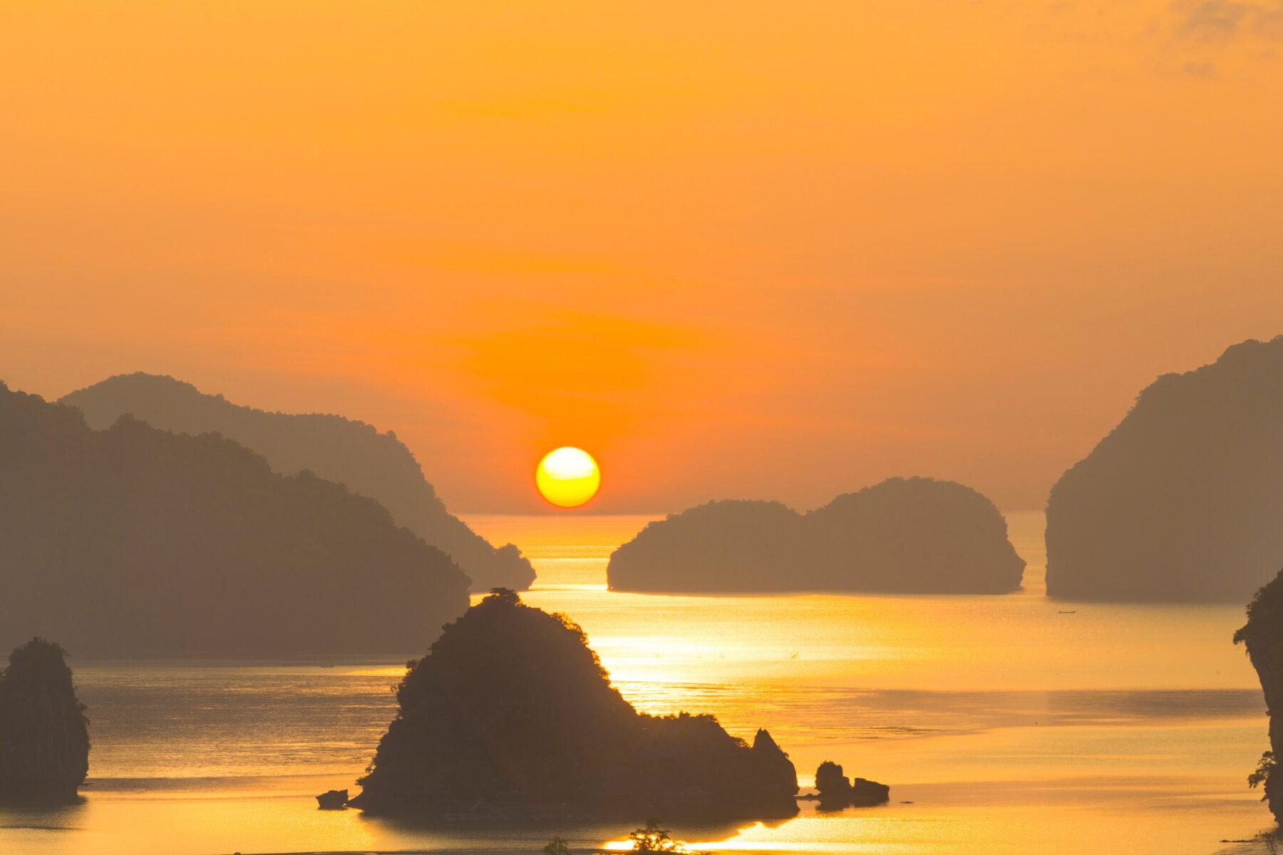 View of Thailand's Andaman Sea from the Sarasin Bridge