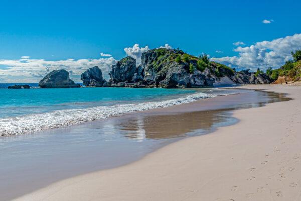 Sandy beach at Horseshoe Bay on Bermuda